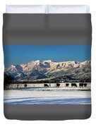 Timpanogos From The North Fields Duvet Cover