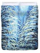 Tim's Winter Forest Duvet Cover
