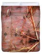 Tin Door - Red Pond Duvet Cover