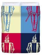Tin Man Pop Art Poster Duvet Cover