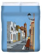 Tintin En Puerto Real Duvet Cover
