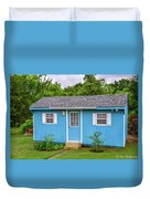 Tiny Blue House Duvet Cover