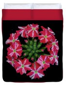 Tiny Bunch Of Red And Pink Flowers Duvet Cover