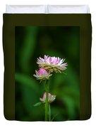 Tiny Dahlias Green Aura Duvet Cover