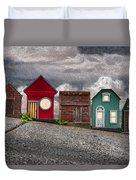 Tiny Houses On Walnut Street Duvet Cover