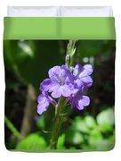 Tiny Purple Blooms Duvet Cover