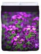 Tiny Purple Flowers Duvet Cover