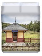 Tiny Train Station Barnet Vermont Duvet Cover