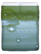 Tiny Water Drops On Stipe Duvet Cover