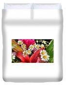 Tiny White Flowers Duvet Cover