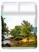Tioman Island Beach Duvet Cover