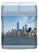 Tip Of Manhattan Wide Duvet Cover