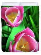 Tiptoe Through The Tulips Duvet Cover