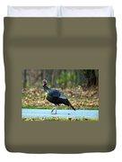 Tiptoe Turkey Trot Duvet Cover
