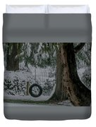 Tire Swing In Winter Duvet Cover