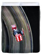 Tire Valve Stem With Red Die Duvet Cover