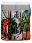 Tis The Season - Charleston Sc Duvet Cover
