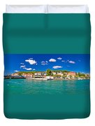 Tisno Panoramic View From Murter Island Duvet Cover