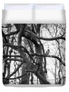 Tit Bird Perching On Tree Duvet Cover