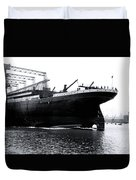 Titanic Being Launched Duvet Cover
