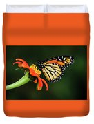 Tithonia Loving Monarch Duvet Cover