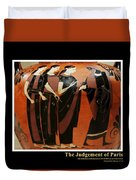 Titled Judgement Of Paris Duvet Cover
