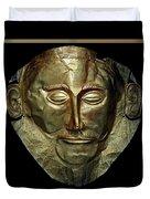 Titled Mask Of Agamemnon Duvet Cover
