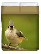 Titmouse Says Here Is Looking At You Duvet Cover