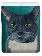 Titter, Cat Portrait Duvet Cover