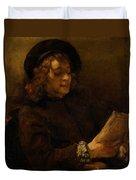Titus Van Rijn, The Artist's Son, Reading Duvet Cover