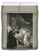Titus's Garden. Lucius Pursued By Lavinia Duvet Cover