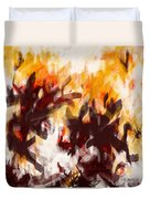 To Be With You Abstract Duvet Cover