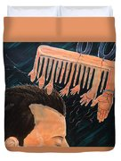 To Comb The Social Reactions Duvet Cover