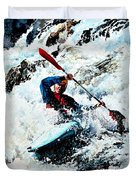 To Conquer White Water Duvet Cover