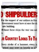 To Shipbuilders - Our Country Looks To You  Duvet Cover