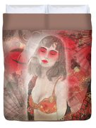 To Tell You A Geisha's Story. Duvet Cover