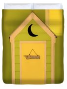 To The Beach - Decorative Outhouse And Sign Duvet Cover