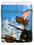To The Maritime Sky Duvet Cover