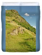 To The Top Of Arthur's Seat. Duvet Cover