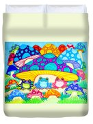 Toads And Toad Stools Duvet Cover