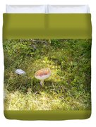 Toadstool Grows On A Forest Floor. Duvet Cover