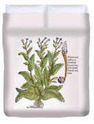 Tobacco Plant Duvet Cover