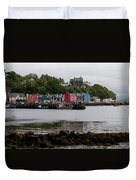 Tobermory Town Cityscape, Isle Of Mull Duvet Cover