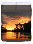 Today's Sunrise In Atchison.  Duvet Cover