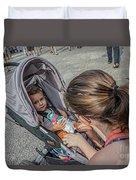 Toddler In Stroller 10512ct Duvet Cover