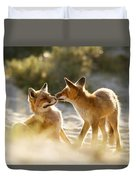 Togetherness - Mother And Kit Moment Duvet Cover