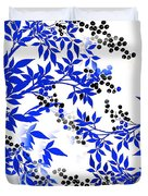 Toile Blue And White Tree Duvet Cover