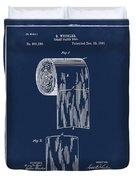 Toilet Paper Roll Patent 1891 Blue Duvet Cover