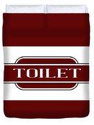 Toilet Station Name Sign Duvet Cover