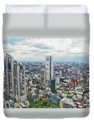 Tokyo City View Duvet Cover